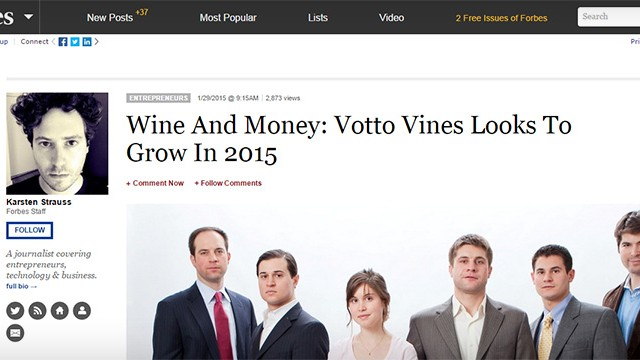 Votto Vines in Forbes